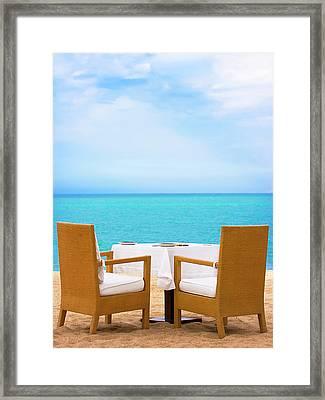 Dinner On The Beach Framed Print