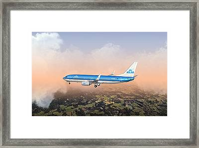 Framed Print featuring the digital art Dirty 737ng 28.8x18 by Mike Ray