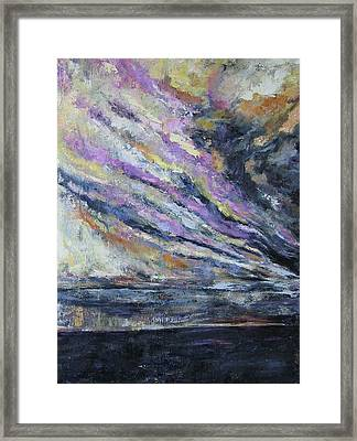 Framed Print featuring the painting Dispelling Storm by Debora Cardaci