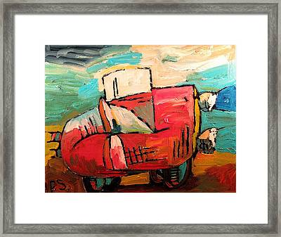 Divorcee Exodus  Sold Framed Print by Charlie Spear