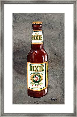 Dixie Beer Bottle Framed Print by Elaine Hodges