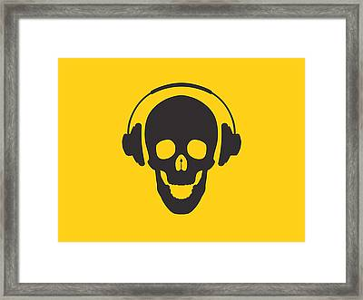 Dj Skeleton Framed Print by Pixel Chimp