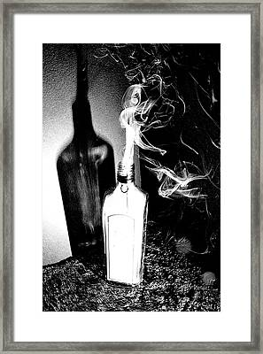 Djinn In A Bottle Framed Print