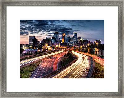 Downtown Minneapolis Skyscrapers Framed Print