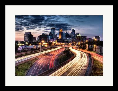 Minneapolis Skyline Framed Prints
