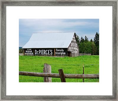 Dr Pierce' Barn 110514.109c1 Framed Print