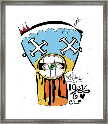 Drool Shake Framed Print by Robert Wolverton Jr