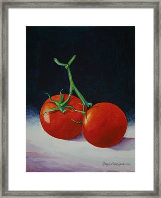 Framed Print featuring the painting Duet  by Margit Sampogna