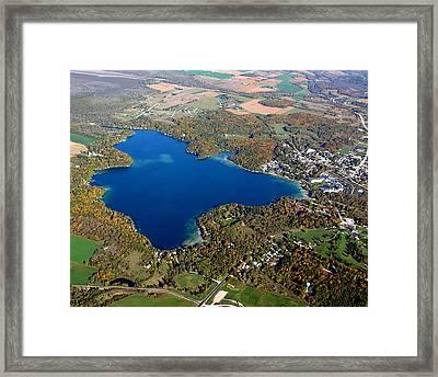 E-006 Elkhart Lake Wisconsin Fall Lake Framed Print