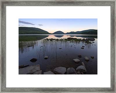 Eagle Lake Dusk Reflections Framed Print by Stephen  Vecchiotti