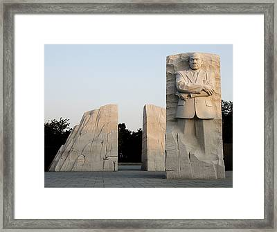 Early Morning At The Martin Luther King Jr Memorial - Washington Dc Framed Print by Brendan Reals