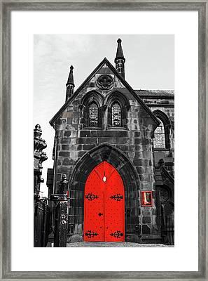 Edinburgh Door Framed Print