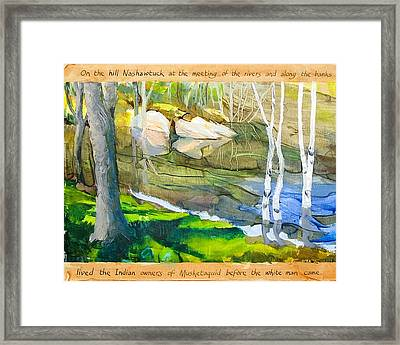 Egg Rock Framed Print
