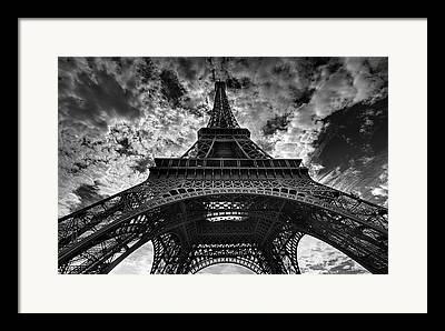 Black And White Paris Framed Prints