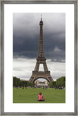 Eiffel Tower. Paris Framed Print by Bernard Jaubert