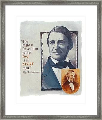 Emerson's Truths Framed Print by Shawn Shea
