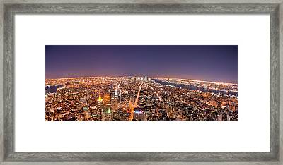 Empire State Building 86th Floor Observatory Framed Print by James DiBianco Jr