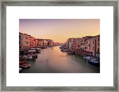 Evening Glow Framed Print by John and Tina Reid