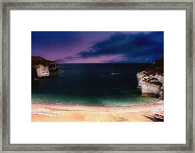 Evening On The Headland  Framed Print