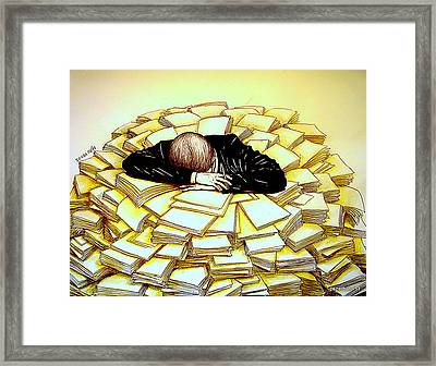 Exhaustive Bureaucracy Framed Print