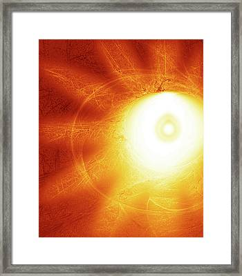 Expanding Calm Framed Print by Rajendra Mongia