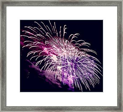 Exploding Stars Framed Print by DigiArt Diaries by Vicky B Fuller