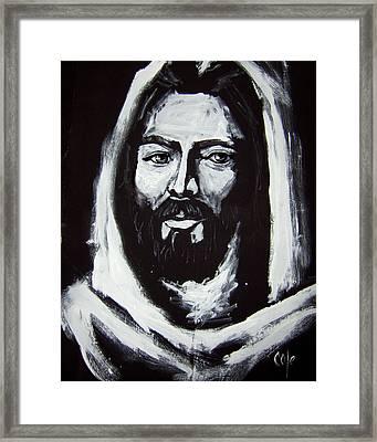 Face Of Christ Ccsa Framed Print