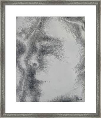 Face With Women Framed Print by Marat Essex