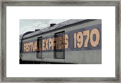 Festival Express Framed Print