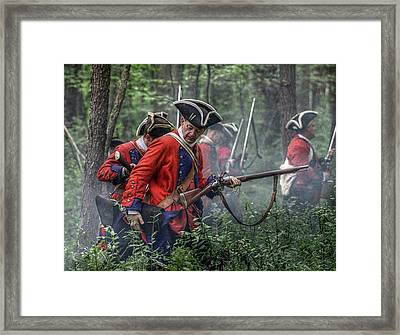 Fight In The Forest Bushy Run 1763 Framed Print by Randy Steele