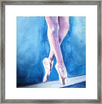 Finding Balance Through Grace Framed Print