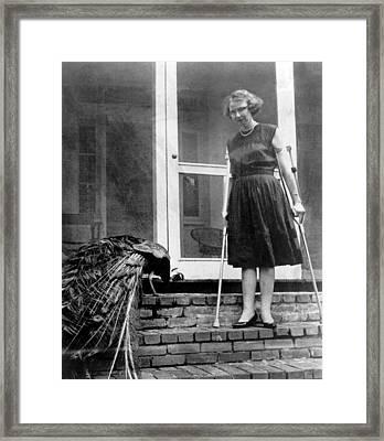 Flannery Oconnor 1925-1964, American Framed Print by Everett
