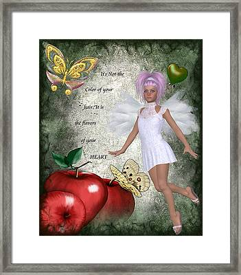 Flavors Of Your Green Heart Framed Print by Morning Dew