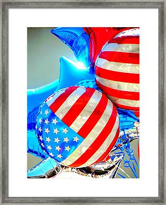Floating Colors Framed Print by Leah Moore