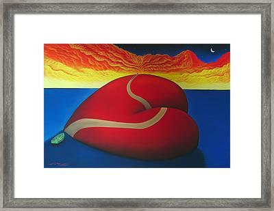 Floating On Love Framed Print