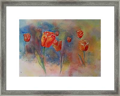 Floating Tulips Framed Print