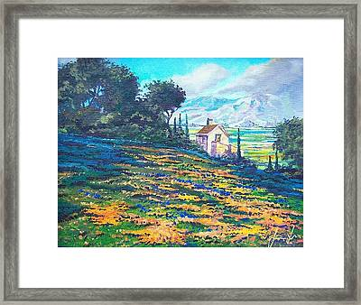 Flower Hill Framed Print by Sinisa Saratlic