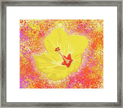 Flower In Bloom Framed Print by Melissa Stinson-Borg