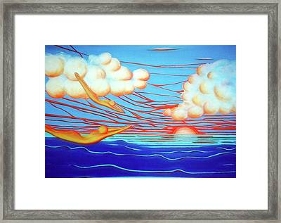 Flying Dream 3 Framed Print by Barbara Stirrup