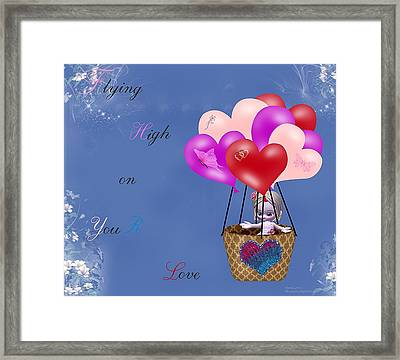 Flying High On Your Love Framed Print by Morning Dew