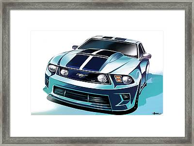 Ford Mustang 5.0 Framed Print by Uli Gonzalez