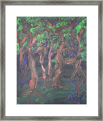 Framed Print featuring the painting Forest by Joshua Redman