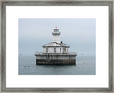 Fourteen Foot Shoal Light  Framed Print by Keith Stokes