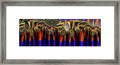 Fractal Torch Framed Print