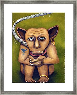 Freak On A Leash Framed Print by Leah Saulnier The Painting Maniac
