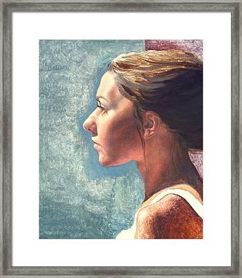 Fresh Pose Framed Print by Deborah Allison
