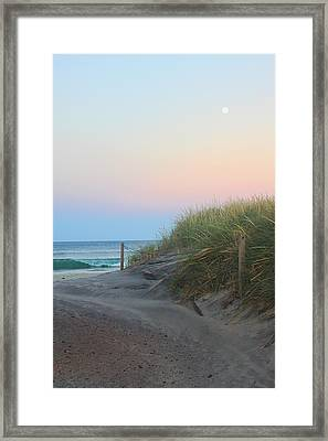 Full Moon Wave Framed Print