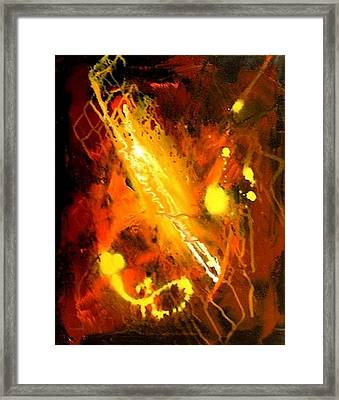 Galaxy Abstract2of4 Framed Print by Teo Alfonso