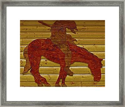 Framed Print featuring the photograph Garage Decoration by Tammy Sutherland
