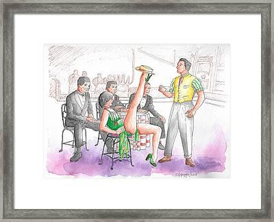 Gene Kelly And Cyd Charisse In Singing In The Rain, 1952 Framed Print by Carlos G Groppa